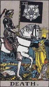 Death card in the Rider-Waite-Smith Tarot Deck
